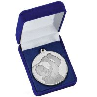 Frosted Glacier Golfer Medal in Case</br>AM2004.02BX